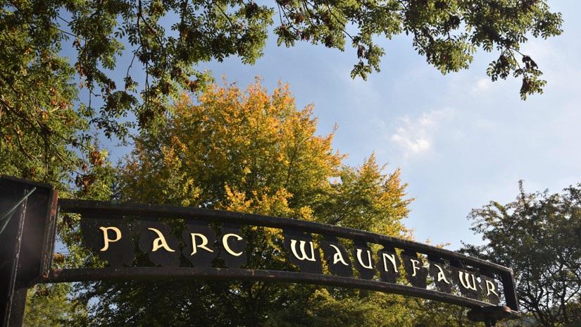 Waunfawr Park sign